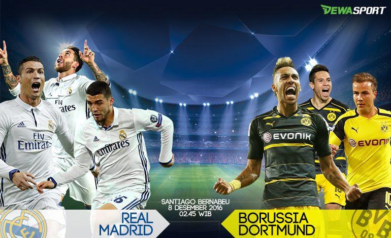 Prediksi Pertandingan antara Real Madrid melawan Borussia Dortmund