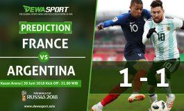 Prediksi Prancis vs Argentina 30 Juni 2018