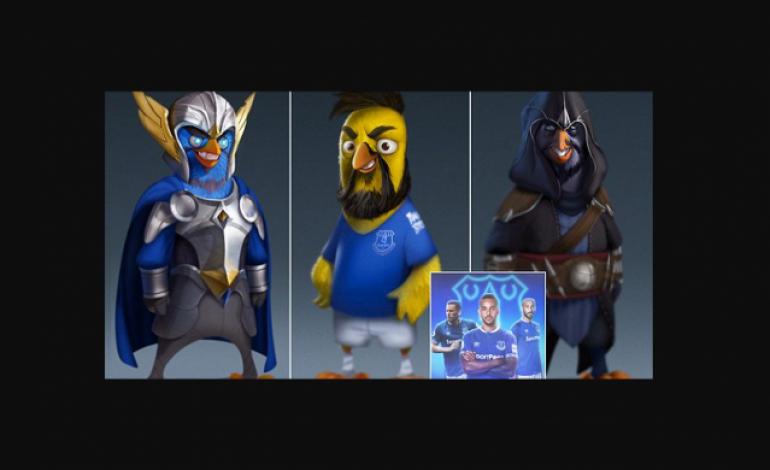 Wow! Tiga Pemain Everton Jadi Karakter Game Angry Birds