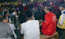 Presiden Joko Widodo Menyapa Penutupan Asian Games 2018 dari Pengungsian Gempa di Lombok