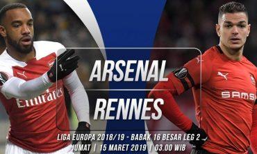 Preview Arsenal vs Rennes: Jalan Mendaki di Emirates