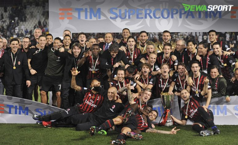 Tumbangkan Juventus, AC Milan Kampiun Super Coppa Italia