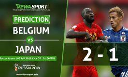 Prediksi Belgia  vs Jepang 3 Juli 2018