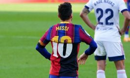 Tribut Menyentuh Lionel Messi untuk Diego Maradona di Laga Kontra Osasuna