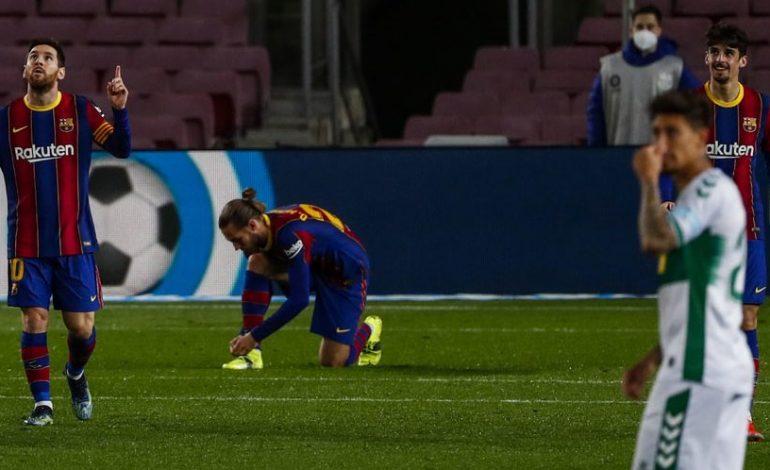 Hasil Pertandingan Barcelona vs Elche: Skor 3-0