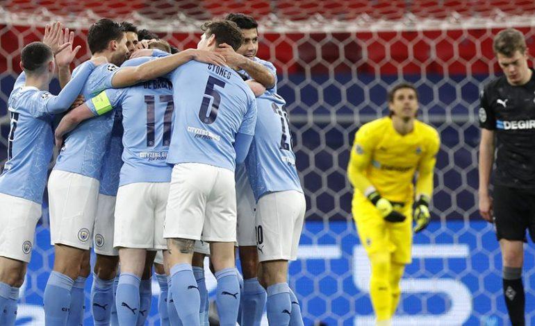 Hasil Pertandingan Manchester City vs Borussia Monchengladbach: Skor 2-0
